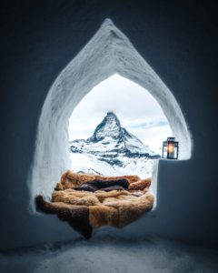 Igloo survival shelter