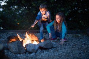 Children over fire