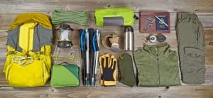 outdoor gear organized